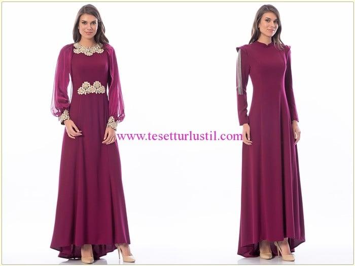 Shayan 2016 mürdüm kapalı abiye elbise modelleri