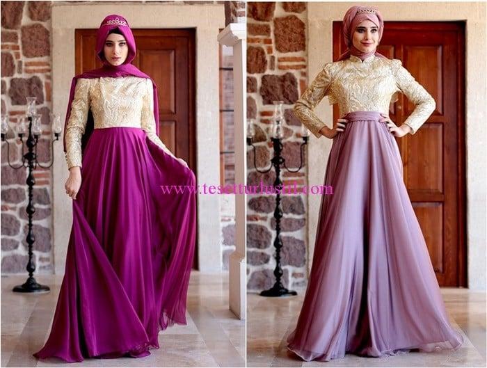 Shayan Azra tesettür abiye elbise modelleri
