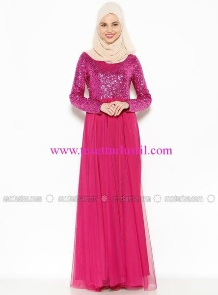 pul-islemeli-abiye-elbise-fusya-ironi-110 TL