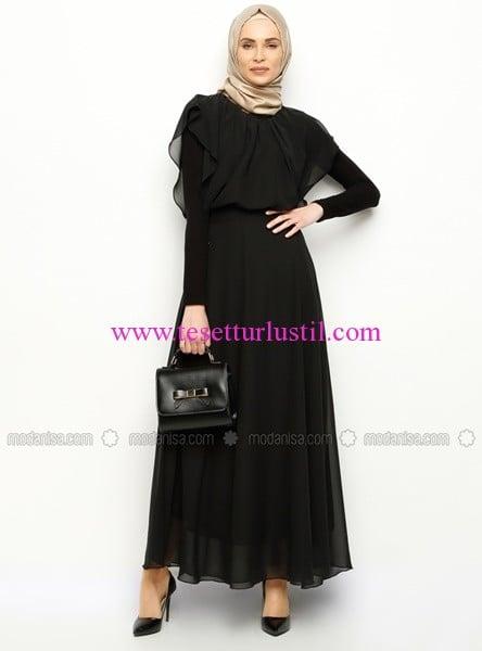 sifon-uzun-elbise-siyah-ironi-70 TL