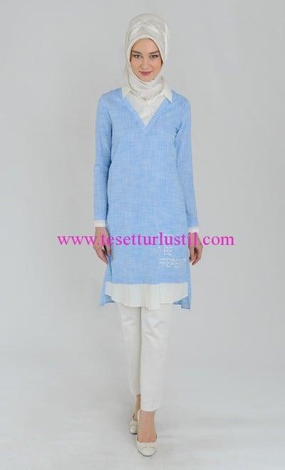 Tuğba 2016 mavi tunik modelleri
