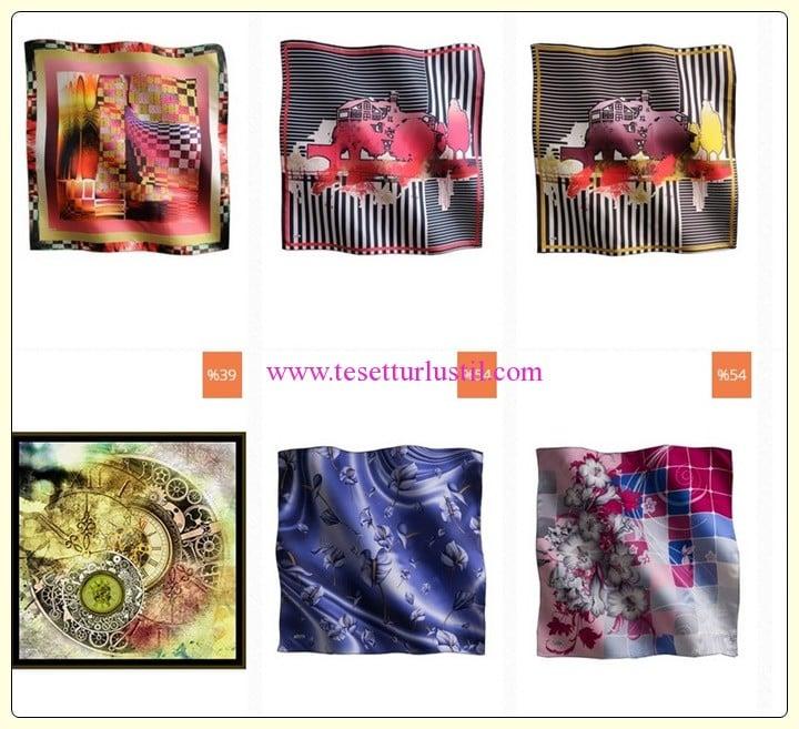 Tuğba Venn desenli eşarp modelleri