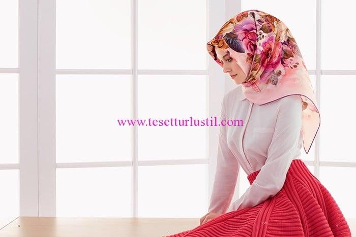 Armine 2017 çiçek desenli eşarp modelleri