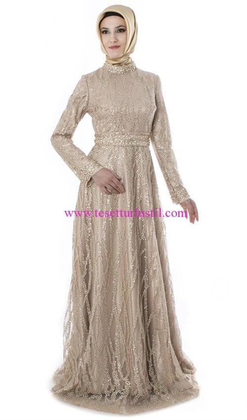 setrms gold abiye elbise