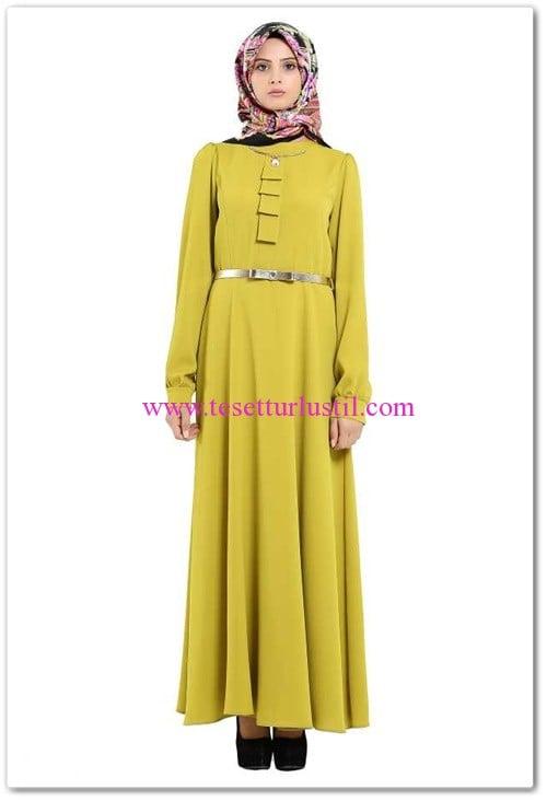 6297-elbise-ela-olive-tekbir-giyim