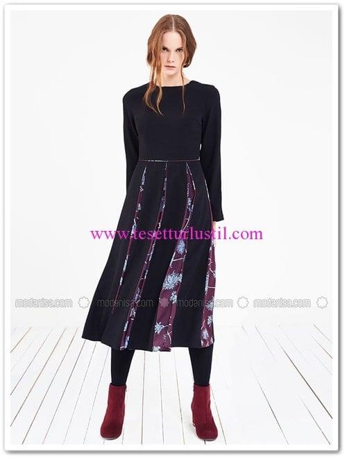 cicek-desenli-elbise-siyah-store-wf