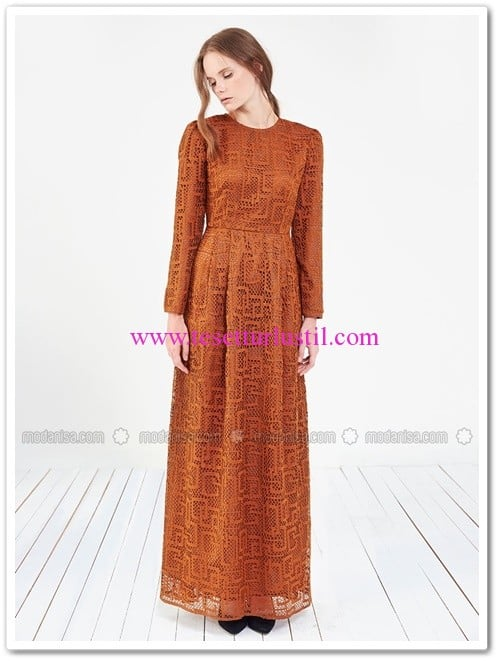 deri-kemerli-dantel-elbise-kahverengi-store-wf
