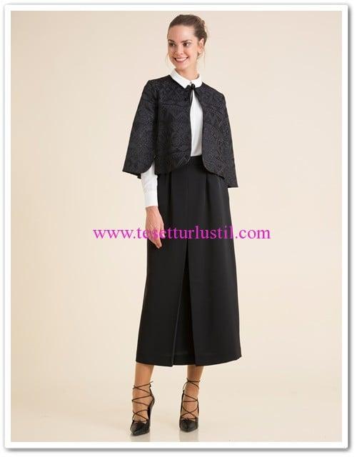 kayra pelerin ceketli 3lu takim siyah