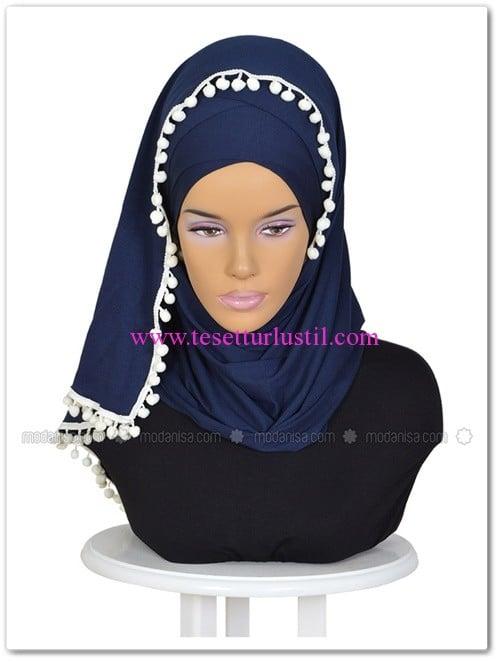 capraz-pratik-penye-sal--lacivert-krem-ayse-turban-tasarim