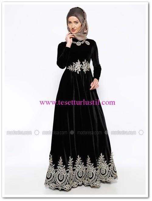 gupurlu-kadife-abiye-elbise-siyah-mislina