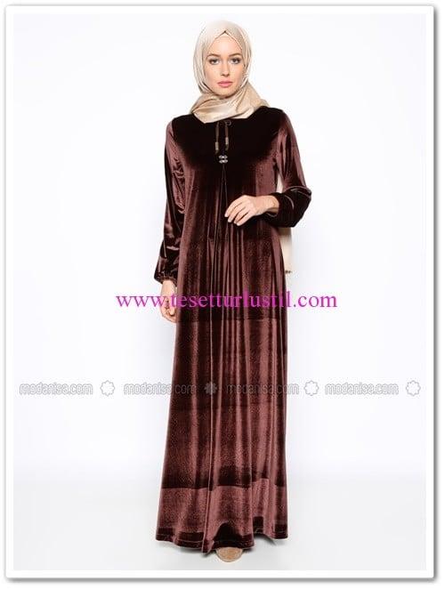 kadife-elbise-kahverengi-ginezza