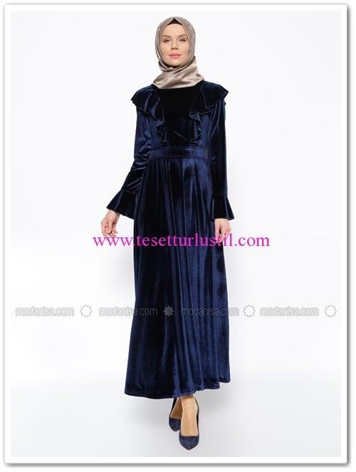 kadife-elbise-lacivert-hacer-sucuoglu-adiguzel