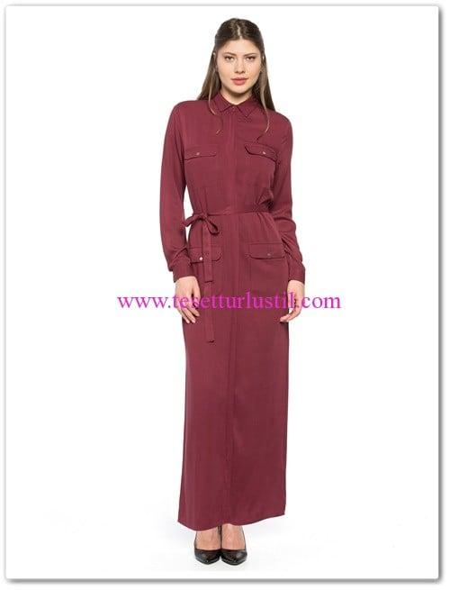 lc waikiki cepli kuşaklı uzun tesettür elbise