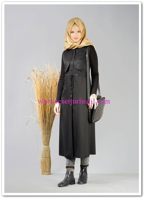 Alvina-winter-eliza-yelek-siyah
