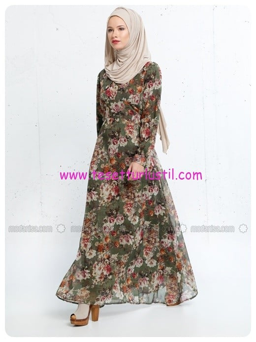 desenli-elbise-haki-refka-women