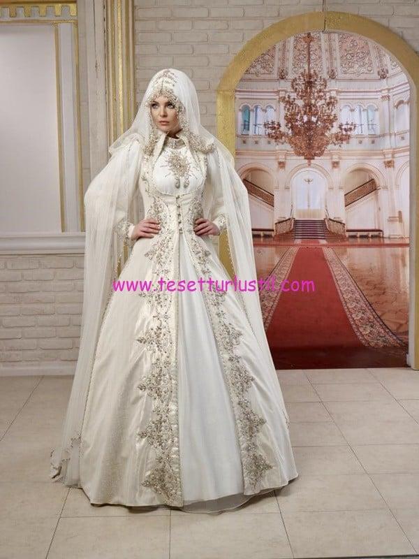osmanlı moda-OG1410-tesettür gelinlik