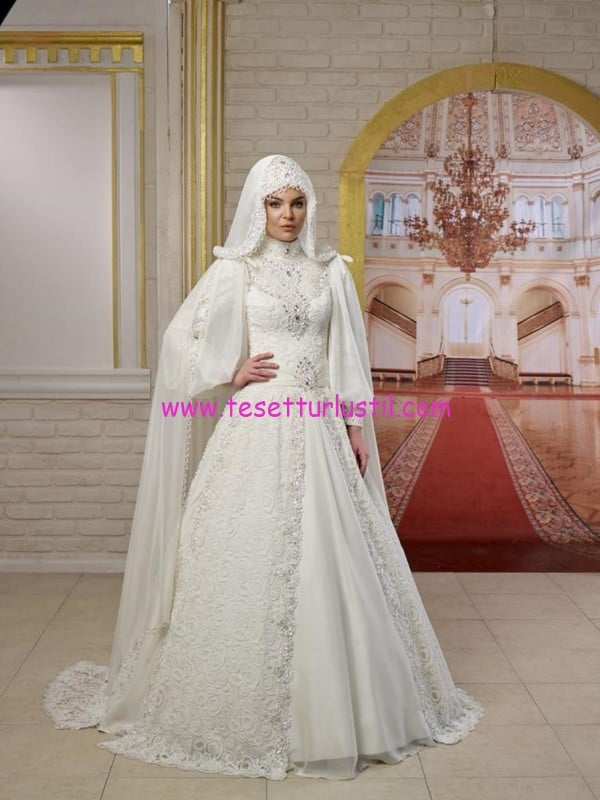 osmanlı moda-OG1430-tesettür gelinlik
