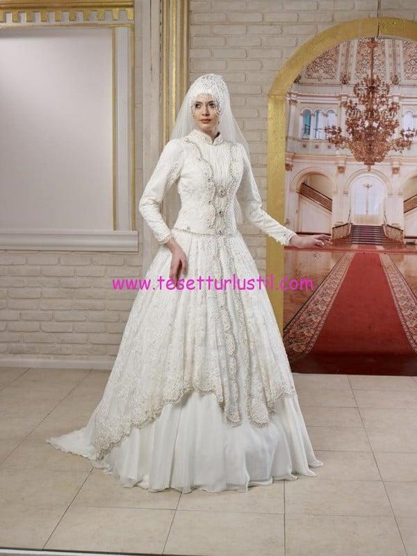 osmanlı moda-OG1504-tesettür gelinlik