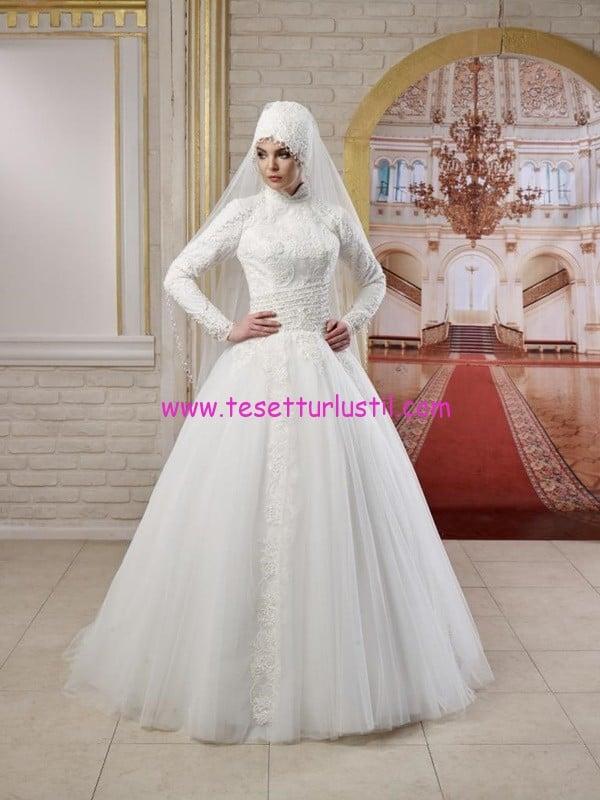 osmanlı moda-OG1509-tesettür gelinlik