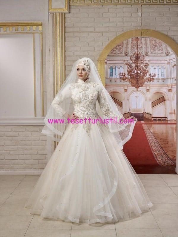 osmanlı moda-OG1518-tesettür gelinlik
