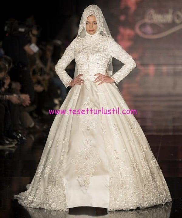 osmanlı moda-OG1617-tesettür gelinlik