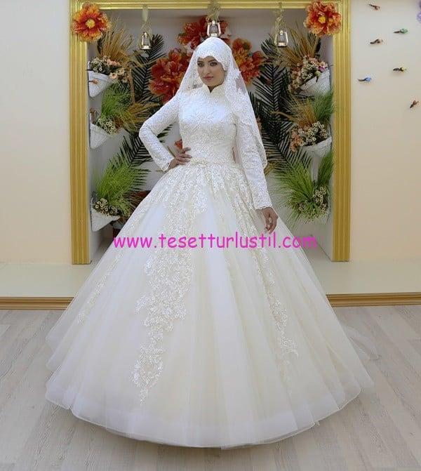 osmanlı moda OG16503-tesettür gelinlik