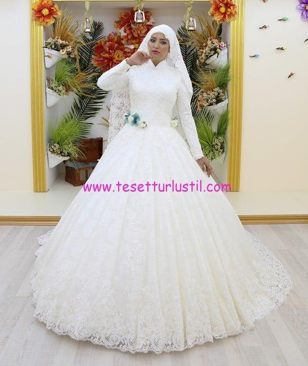 osmanlı moda OG16504-tesettür gelinlik