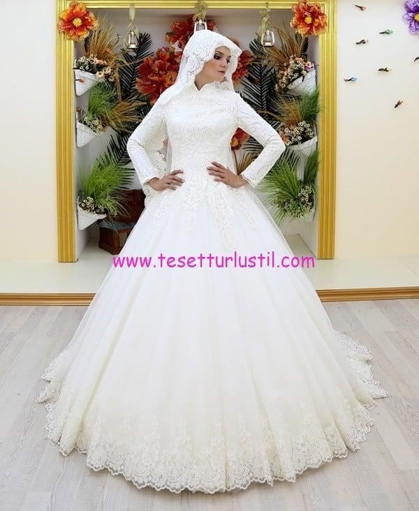 osmanlı moda OG1689-tesettür gelinlik