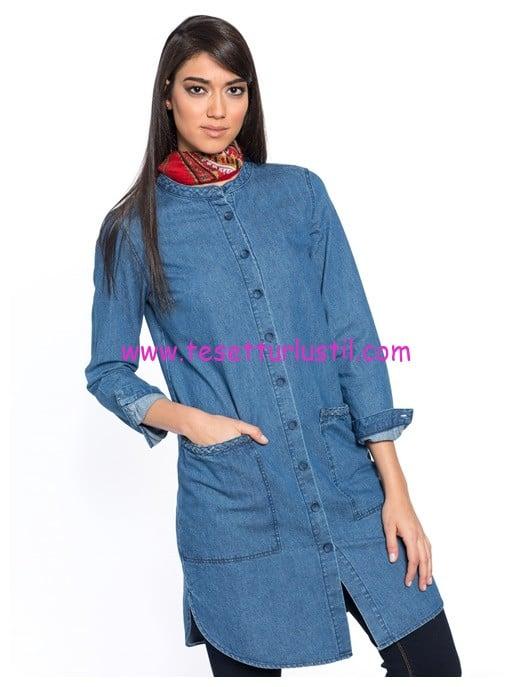 LCW uzun jean gömlek tunik-60 TL