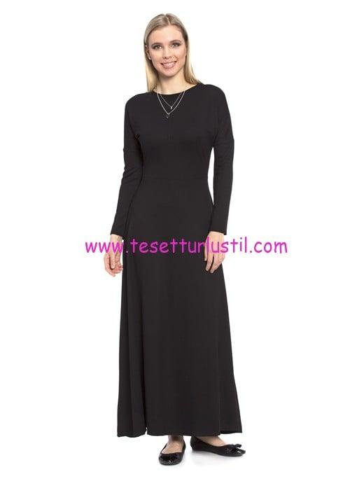 LCW uzun kollu maksi siyah elbise-60 TL