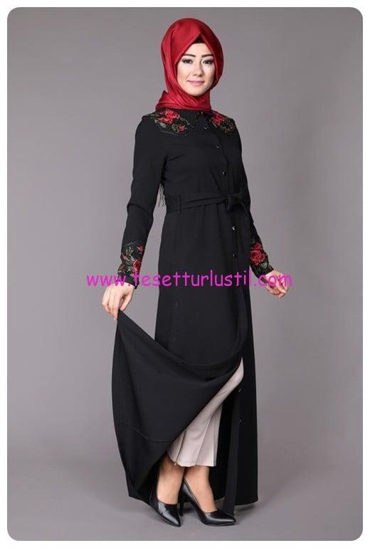 dantel-islemeli-elbise-tunik-msw8000-siyah-modaselvim