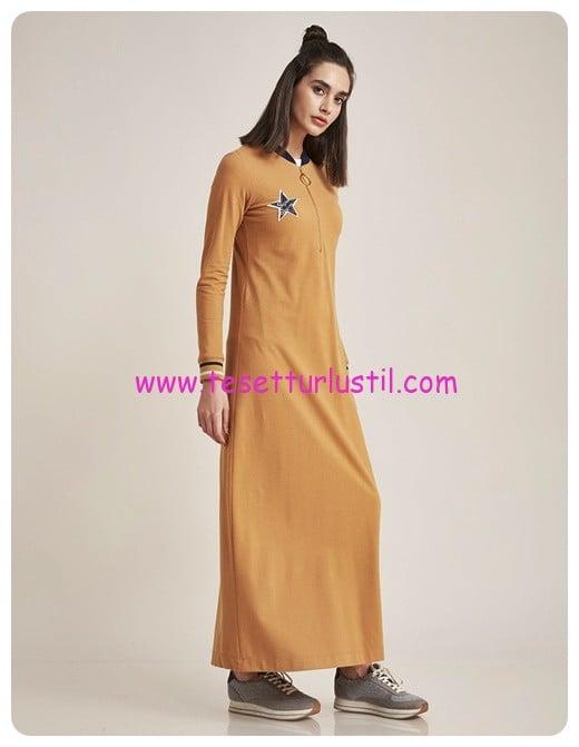 kayra bomber yaka spor elbise camel