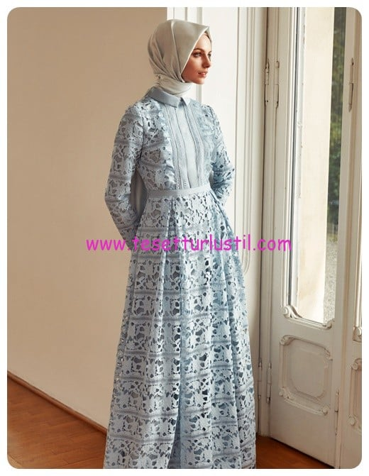 kayra gupurlu abiye elbise mavi