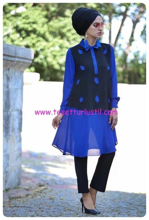 tofisa-tunik-pantolon-kombin-siyah-saks-120 TL